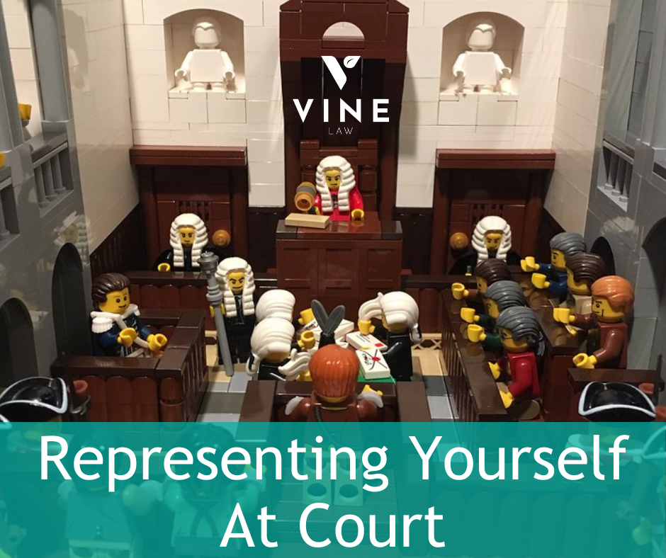 Representing yourself at court